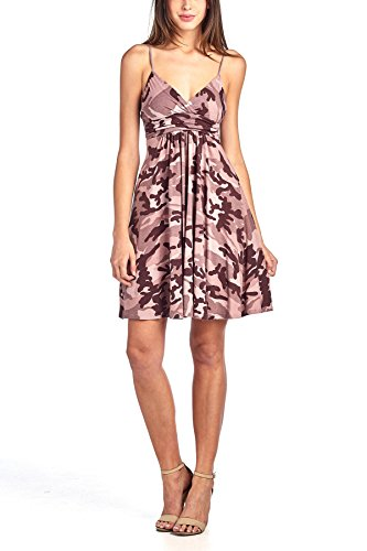 Beachcoco Women's Sweetheart Short Dress (L, Camouflage (Pink Camo Dress)