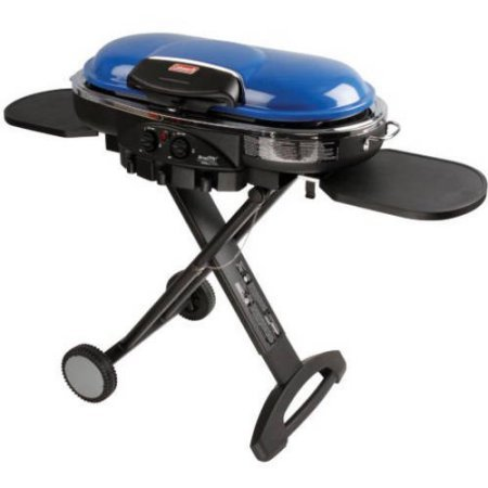 - Coleman Road Trip LXE 20,000 BTU 2 Burner Portable Propane Grill, Blue | Push Button Portable Propane Grill - Blue