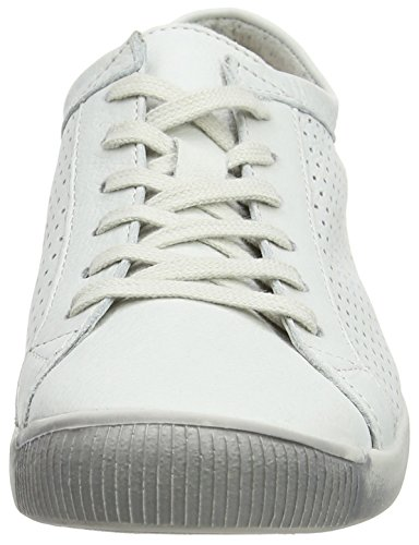 Softinos Damen Ica388sof Sneakers Lisce Weiß