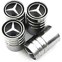 4pcs /set Silver Chrome Car Wheel Tire Air Valve Caps Stems Cover Air Dust Cover Screw Caps For Benz