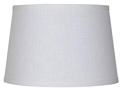 White Linen Drum Lamp Shade 10x12x8 (Spider)