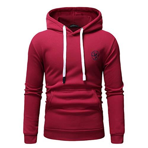 TOPUNDER Long Sleeve Autumn Winter Casual Sweatshirt Hoodies Top Blouse TracksuitsMen -