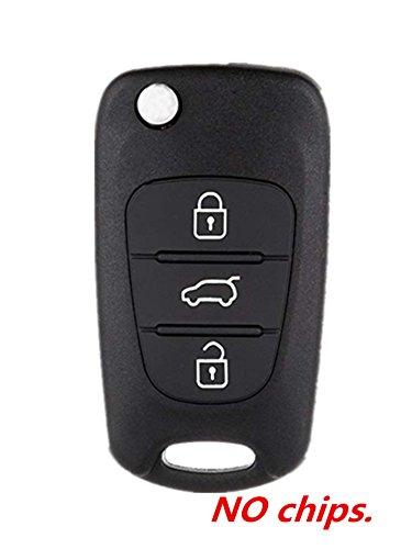 KAWIHEN Keyless Entry Remote Key Fob Shell Case Replacement For Hyundai Accent Elantra Kia Forte K5 K2 Rio Spectra i20 i30 i35 iX20 iX35 Rondo Sorento Soul Sportage 3 Btn