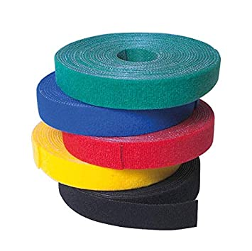 Cinta De Velcro 4000 X 16 Mm De Color Rojo LogiLink Correa Alambre