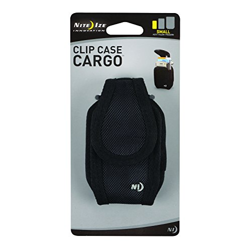 Mobile Phone Clip Case (Nite Ize Universal Clip Case Cargo Cell Phone Holder with Holster Belt Clips, Small, Black)
