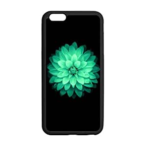 At-Baby Custom Green Flower Lily Pattern Phone Case Custom Iphone 6 Plus 5.5 inch Case (Laser Technology) by runtopwell