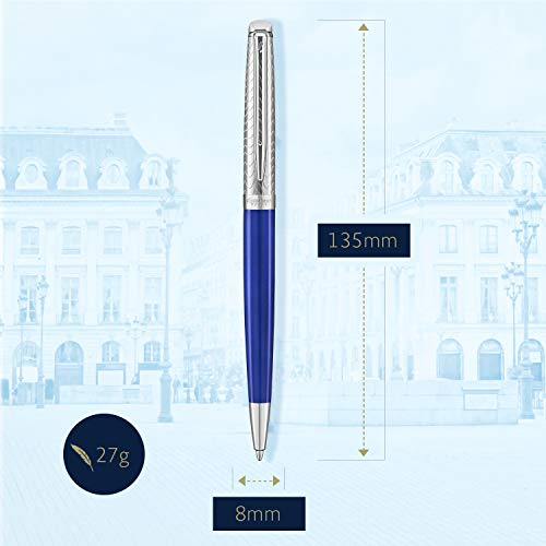 Waterman Hemisphere Deluxe Ballpoint Pen Medium Point with Blue Ink Cartridge (2043218) by Waterman (Image #4)