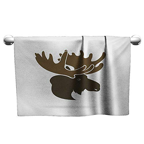 alisoso Moose,Dish Towels Deer Head Canadian Sacred Northern Wilderness Mammals Hunting Graphic Absorbent Towel Army Green Green Brown W 20