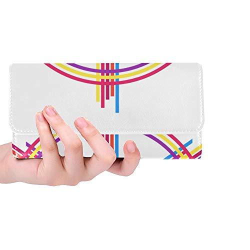 Unique Custom Peace Sign Tshirt Design Women Trifold Wallet Long Purse Credit Card Holder Case Handbag