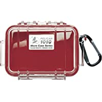 Pelican 1010 Micro Case, Red with Clear Lid