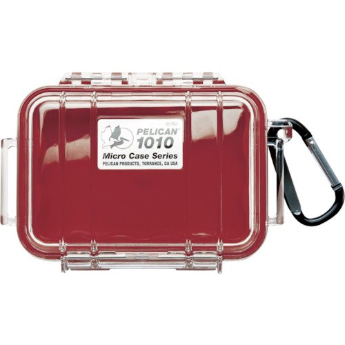 Waterproof Case | Pelican 1010 Micro Case (Red/Clear) (Micro Red Case)