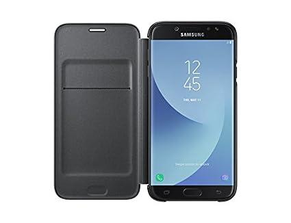 new style c47f2 f0090 Samsung Galaxy J7 Pro 2017 Wallet Cover - Black
