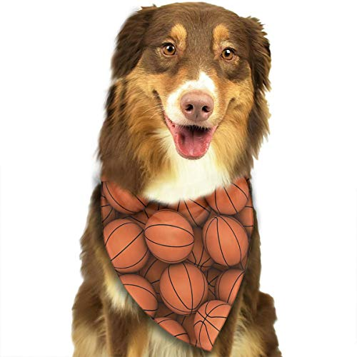Stylish Sports Basketball Balls Rabbit's Daily Life Bandana Triangle Bibs Scarfs Accessories For Pet Cats And Puppies -