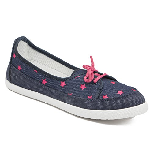 eb3fefcfb875f Asian Shoes Women s Navy Blue Pink Canvas Casual Shoes - 9Uk Indian  Buy  Online at Low Prices in India - Amazon.in