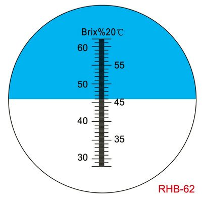 Sinotech Hand Held Fruit Suger Refractometer Brix 28-62% Rhb-62atc by Sinotech (Image #2)