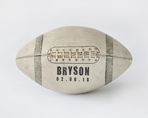 Personalized Football Artwork Decor Customized with Name and Birth Date