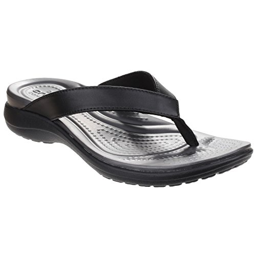 V Crocs Black Flip Capri Flop Graphite Women's xqz7wqZ
