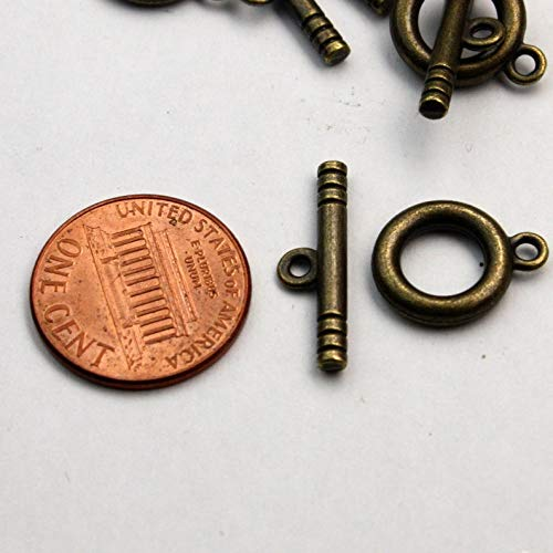 Wholesale 100 Sets of Antique Brass Toggle Clasps - Ship from California USA