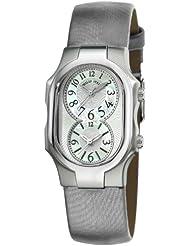 Philip Stein Womens 1-NFMOP-IPL Signature Platinum Silk on Leather Strap Watch