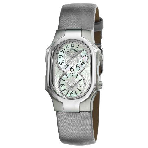 Philip Stein Women's 1-NFMOP-IPL Signature Platinum Silk on Leather Strap Watch