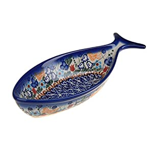 Classic Boleslawiec Pottery Hand Painted Ceramic Fish Bowl 0.3 litre 504-U-099