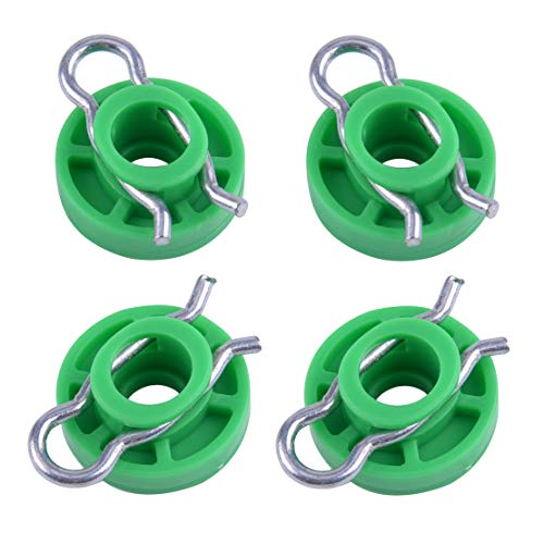 beler 4pcs Window Regulator Guide Roller Clip Slider Fit for Saab 9-3 9-5 900 Volvo 850 V70 S70 ()