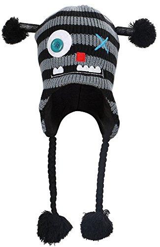 dec162af501 ... Animal Knit Winter Fleece Ski Beanie Hat with Ear Flaps