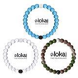 Lokai 3pc Bracelet Set Clear, Blue, Wild Camo, Size XL