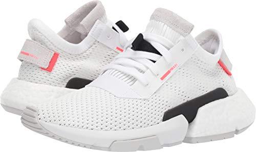 adidas Originals Kids Unisex POD-S3-1 J (Big Kid) White/Shock Red 5 M US Big Kid