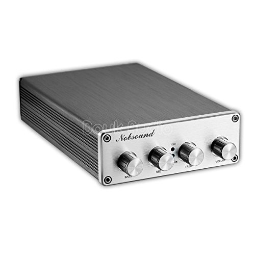 Nobsound Hi-Fi Stereo Digital Preamplifier Audio Pre-Amp with Treble/Middle/Bass Tone Control & Bypass; RCA; 2.0 channel; Universal Voltage ()
