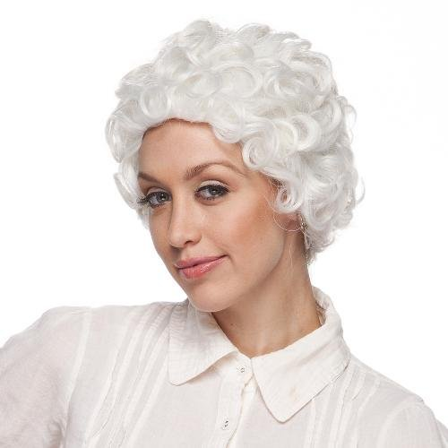 Queen Elizabeth Ii Wig - High Quality White Mom Synthetic Hair Wig