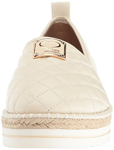 Elsker Moschino Kvinners Superquilted Flat White ...