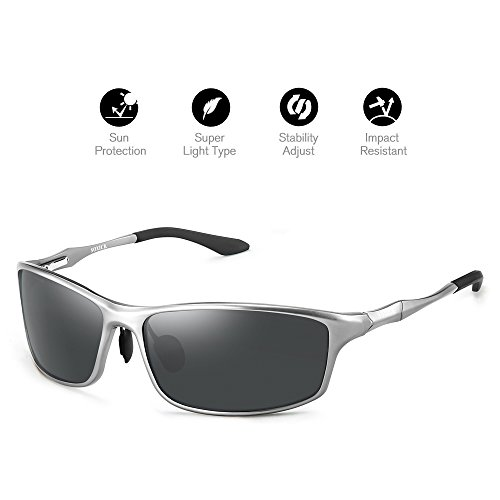 Sunglasses for Men Polarized UV400 Unbreakable Fishing Sports - Oval Face Men For Sunglasses