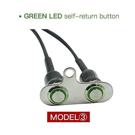 Switches 12V LED Motorcycle Switch Handlebar Adjustable Mount ...