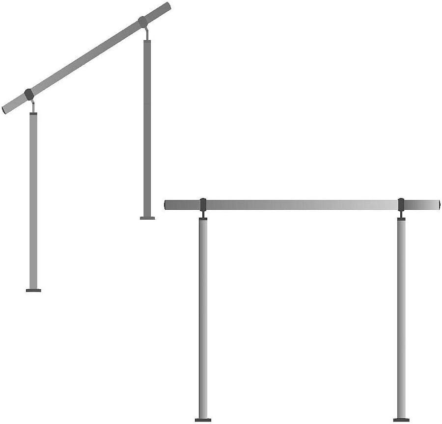 SAILUN/® Edelstahl Handlauf Gel/änder mit 2 Pfosten f/ür Br/üstung Treppen Balkon 160 cm, 3 Querstreben