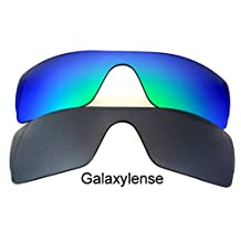 Galaxy Replacement Lenses for Oakley Batwolf Black&Green Polorized,2 Pairs