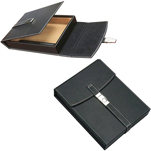 Prestige Import Group - The Florence Leather Travel Cigar Humidor Case - Color: Black