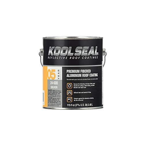 Kool Seal KS0024600-16 Premium Fibered Aliminum Roof Coatings, Silver