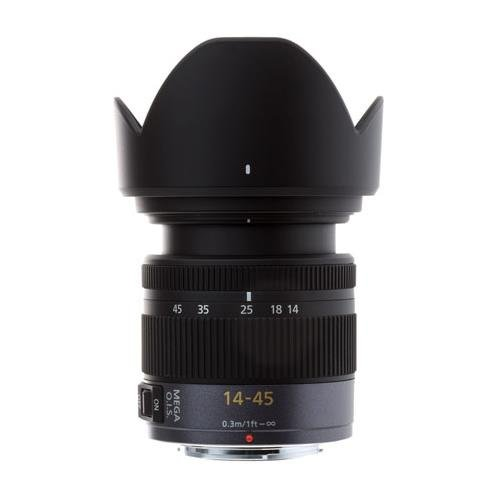 PANASONIC LUMIX G Vario Lens, 14-45MM, F3.5-5.6 ASPH, MIRRORLESS Micro Four Thirds, MEGA O.I.S, H-FS014045 (USA Black)