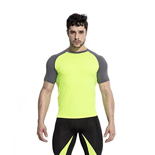 ブロッククリスマスフォームRicky&Bens メンズ ボディービルパーカー Tシャツ ワークアウトフィットネスジム