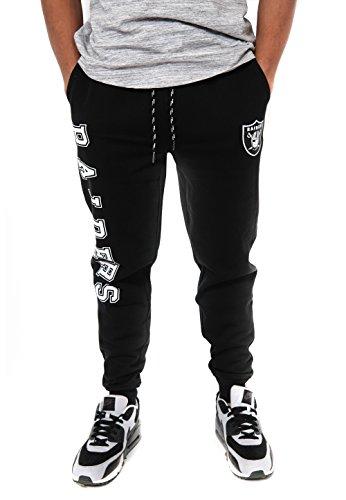 NFL Oakland Raiders Men's Jogger Pants Active Basic Fleece Sweatpants, X-Large, Black (Screen Print Classic Jersey)