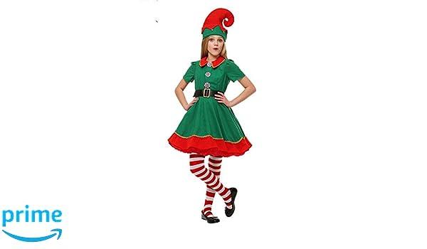 thematys® Disfraz de Duende de Navidad para Hombres, Mujeres y ...