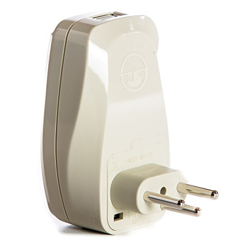 Orei 3 in 1 Switzerland Travel Adapter Plug with USB and Sur