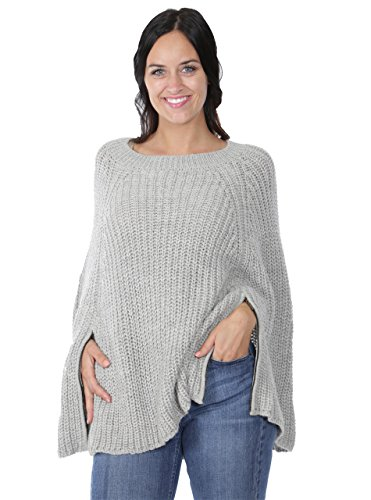 Incredible Natural Creations from Alpaca - INCA Brands Modern Holmes Poncho (Dove Grey) by Incredible Natural Creations from Alpaca - INCA Brands
