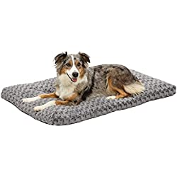 Plush Dog Bed | Ombré Swirl Dog Bed & Cat Bed | Gray 40L x 27W x 2.5H - Inches for Large Dog Breeds