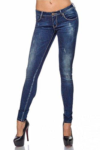 Atixo Jeans mit Strass - blau