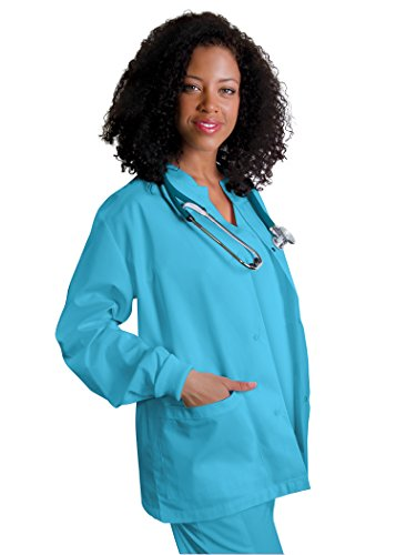 Work Jacket for Nurses /& Doctors Adar Scrub Jacket for Men