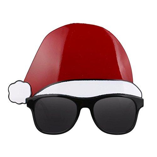 Ikevan Christmas Cap Glasses for Adults or - 18k Aviators