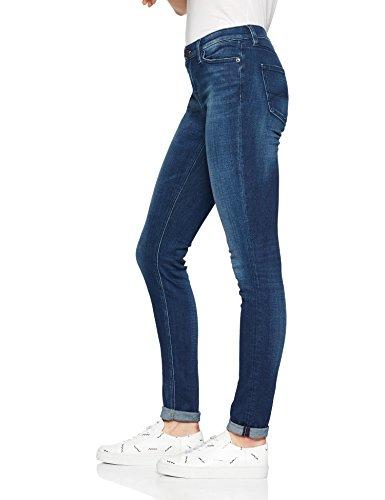 chicago Rise Blue l32 W26 Dark Tommy Jeans Nora 911 Vaqueros Mujer Stretch Mid Skinny Azul qn8ptxR
