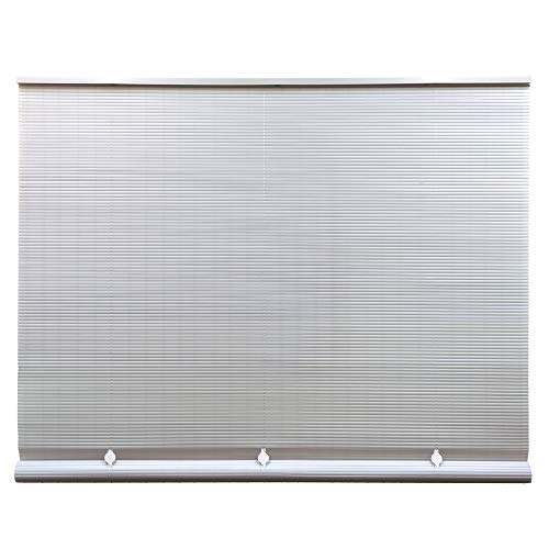 - Lewis Hyman Cord Free 1/4 Inch Oval PVC Shade, White, 60 Inches x 72 Inches Roll Up Blind, 36 Inches